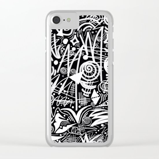 Chalk Board! Clear iPhone Case