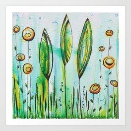 Underwater Trees Art Print