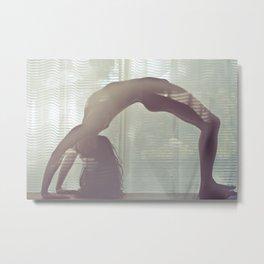 Nude Yoga - Bending Light Metal Print