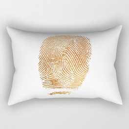 Gold Fingerprint Rectangular Pillow
