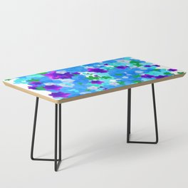 Bright Floral Pattern with Girly Flowers in Preppy Blue and Purple Coffee Table