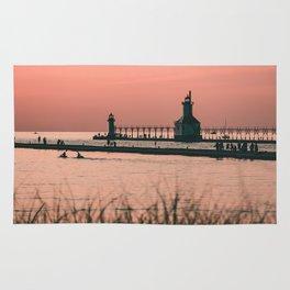 Sunset Lighthouse Rug