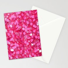 Pink Glitter Stationery Cards