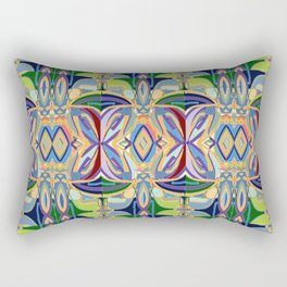 Butterfly mosaic - brightly colored pattern Rectangular Pillow