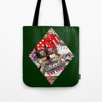 cyarin Tote Bags featuring Diamond Playing Card Shape - Las Vegas Icons by Gravityx9