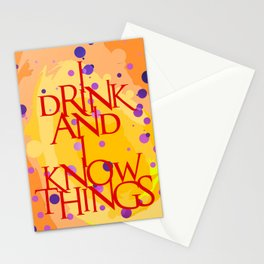 I Know Things Stationery Cards