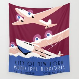 City of New York municipal airports Wall Tapestry