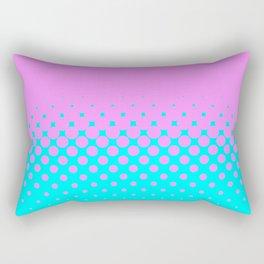 Pink to Blue Rectangular Pillow