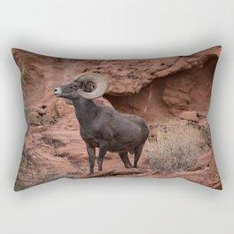 Desert Bighorn, Valley of Fire - III Rectangular Pillow