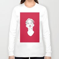 miley Long Sleeve T-shirts featuring Miley by Fernando Monroy Robles