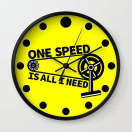 Single Speed Bike Wall Clock