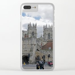 York Minster and Bootham Bar Clear iPhone Case