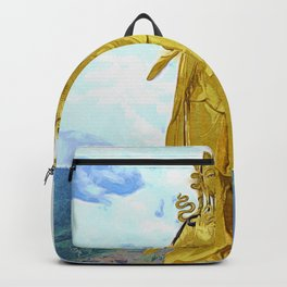 Buddha Dordenma | painting of golden statue Backpack