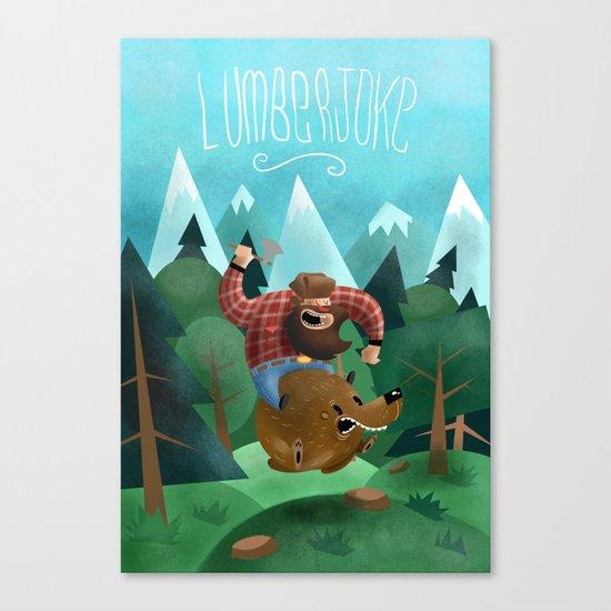 Lumberjoke Canvas Print