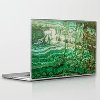 malachite Laptop & iPad Skins featuring MINERAL BEAUTY - MALACHITE by Catspaws