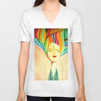 grace V-neck T-shirts featuring grace by sylvie demers