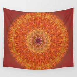 Red Burst Mandala 0118 Wall Tapestry