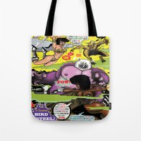 hentai Tote Bags featuring Space Chick & Nympho: Vampire Warrior Party Girl Comix #2 - Comic Book Cover by Tex Watt