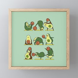 Avocado Yoga With The Seed Framed Mini Art Print