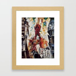 """Robert Delaunay """"Graphic Champs de Mars: The Red Tower"""" Framed Art Print"""