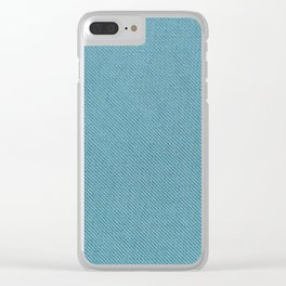 Solid Turquoise Blue Clear iPhone Case