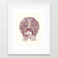 huebucket Framed Art Prints featuring Your Bone by Huebucket