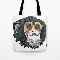 monkey Tote Bags featuring Monkey! by  Steve Wade ( Swade)