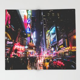 New York City Night Throw Blanket