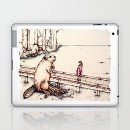 The Girl & The Beaver (or, Is It Alright if I Take Notes?) Laptop & iPad Skin