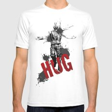 HUG White MEDIUM Mens Fitted Tee
