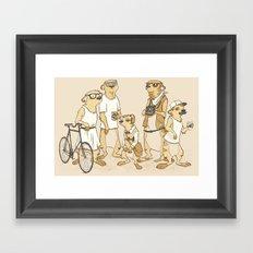 Hipster Meerkats Framed Art Print