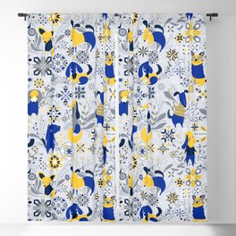 Happy Dog Year Blackout Curtain