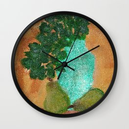 Pears And Plant Still Life Wall Clock