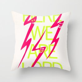 Lightning Speaks Throw Pillow