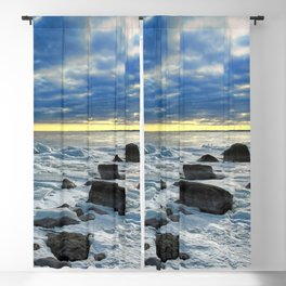 Icy Lake Ontario Sunset. Blackout Curtain