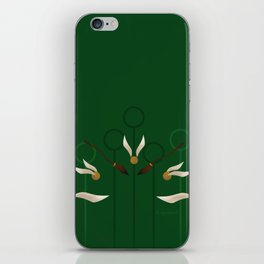 Catch the Snitch for Slytherin iPhone Skin