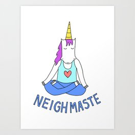 Neighmaste Art Print