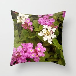 Purple drops Throw Pillow