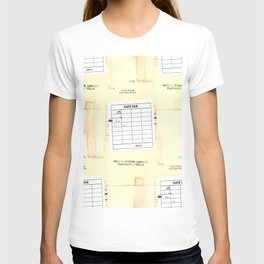 Library Book Date Due Card T-shirt