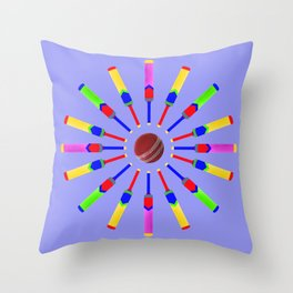 Sport Of Cricket Design version 2 Throw Pillow