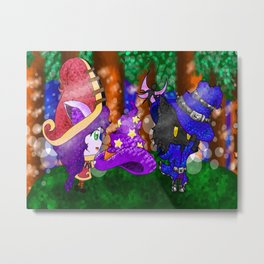 Lulu and Veigar <3 Metal Print