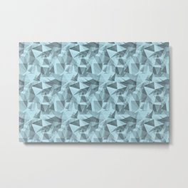 Abstract Geometrical Triangle Patterns 3 VA Healing Aire Blue - Angelic Blue - Soothing Blue Metal Print