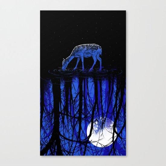 deep blue forest Canvas Print