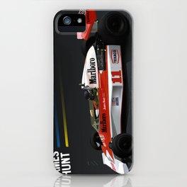 James Hunt McLaren F1    Car   Automotive   Formula One iPhone Case