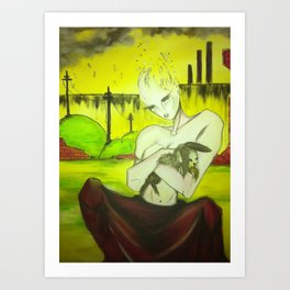 Embracing Mishaabooz Art Print