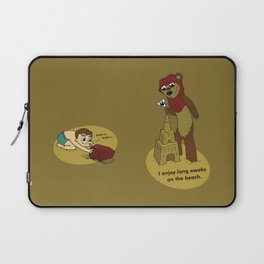 I Enjoy Long Ewoks on the Beach Laptop Sleeve