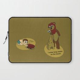 I Enjoy Long Ewoks on the Beach Laptop Sleeve