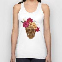 animal skull Tank Tops featuring Skull by eARTh