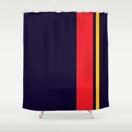 Navy Racer Shower Curtain