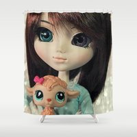 lamb Shower Curtains featuring Lamb by ♥  Little Enchanted World ♥
